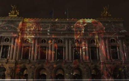 Son et lumière de l'ambassade d'Allemagne sur l'Opéra Garnier